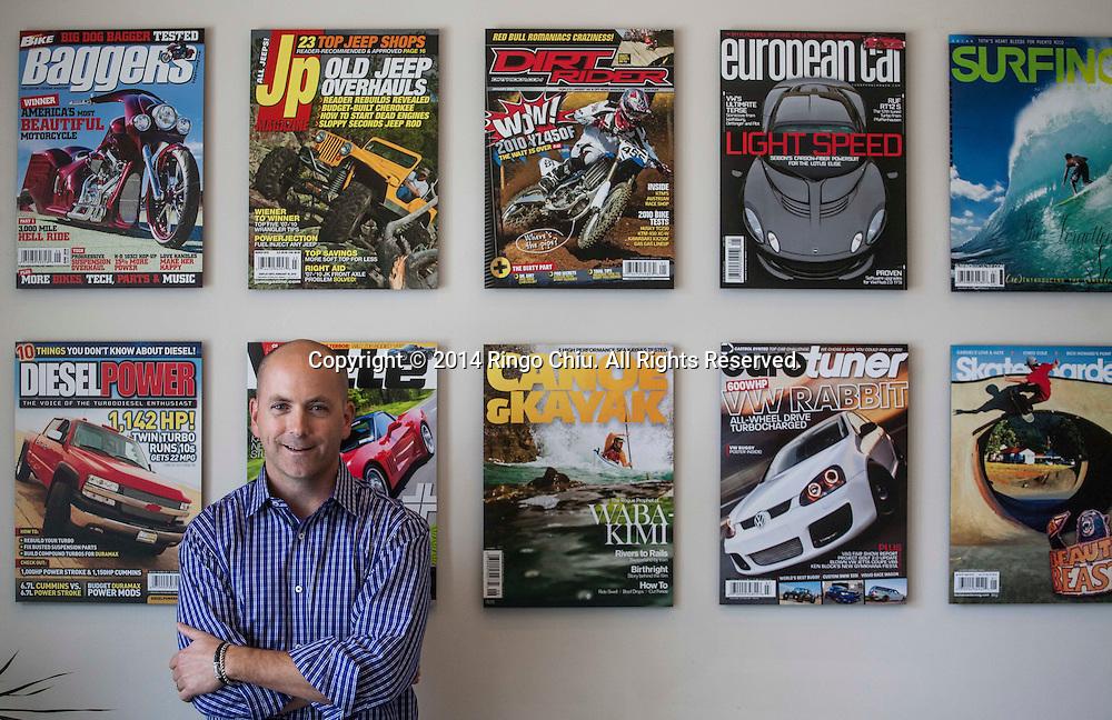Scott Dickey, CEO, at magazine publisher Source Interlink Media.(Photo by Ringo Chiu/PHOTOFORMULA.com)
