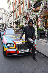 Artist Bradley Theodore at a private view of work by Bradley Theodore entitled 'The Second Coming' at the Maddox Gallery, 9 Maddox Street, London England. 19 April 2017.