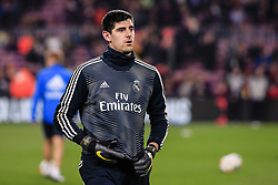 February 6, 2019 - Barcelona, Catalonia, Spain - 25 Thibaut Courtois of Real Madrid during the semi-final first leg of Spanish King Cup / Copa del Rey football match between FC Barcelona and Real Madrid on 6 February 2019 at Camp Nou stadium in Barcelona, Spain  (Credit Image: © Xavier Bonilla/NurPhoto via ZUMA Press)