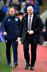 """Burnley assistant manager Ian Woan and manager Sean Dyche during the Premier League match at Selhurst Park, London. PRESS ASSOCIATION Photo. Picture date: Saturday January 13, 2018. See PA story SOCCER Palace. Photo credit should read: Daniel Hambury/PA Wire. RESTRICTIONS: EDITORIAL USE ONLY No use with unauthorised audio, video, data, fixture lists, club/league logos or """"live"""" services. Online in-match use limited to 75 images, no video emulation. No use in betting, games or single club/league/player publications"""