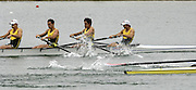 Munich, GERMANY, Start LM4-, , AUS LM4-, 2006, FISA, Rowing, World Cup, Star men's light weight fours semi- final  held on the Olympic Regatta Course, Munich, Fri. 26.05.2006. © Peter Spurrier/Intersport-images.com,  / Mobile +44 [0] 7973 819 551 / email images@intersport-images.com.[Mandatory Credit, Peter Spurier/ Intersport Images] Rowing Course, Olympic Regatta Rowing Course, Munich, GERMANY