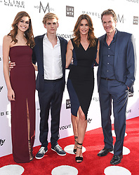 Guests arrive at the 3rd Annual Fashion LA Awards in Hollywood, California. 02 Apr 2017 Pictured: Kaia Gerber, Presley Gerber, Cindy Crawford, Rande Gerber. Photo credit: MEGA TheMegaAgency.com +1 888 505 6342