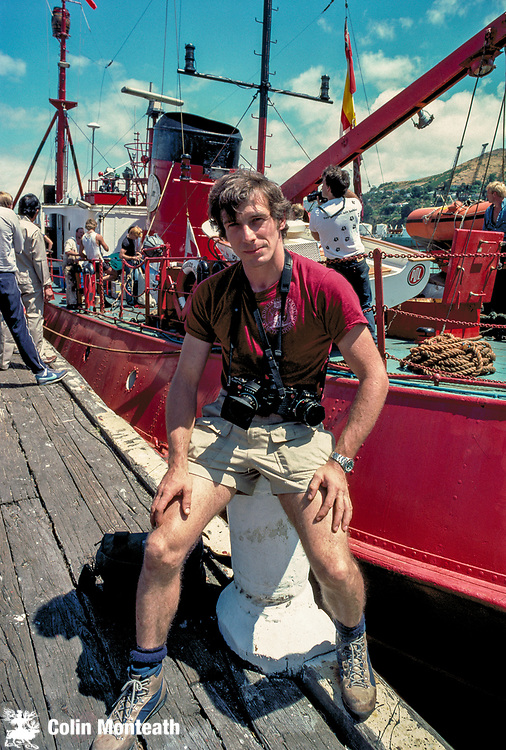 British mountaineer, Roger Mear - Footsteps of Scott Expedition depart Lyttelton New Zealand for Ross Island, Antarctica January 1985