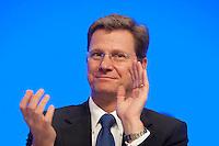 17 JAN 2009, BERLIN/GERMANY:<br /> Guido Westerwelle, FDP Bundesvorsitzender, Europaparteitag der FDP, Estrel Convention Center<br /> IMAGE: 20090117-01-014<br /> KEYWORDS: party congress, Applaus, applaudiert, klatscht, klatschen