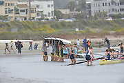 San Diego, California. USA.  Crews boating from the Beach, at the  2013 Crew Classic Regatta, Mission Bay.  12:03:59.  Sunday  07/04/2013   [Mandatory Credit. Peter Spurrier/Intersport Images]  ..