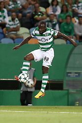 August 15, 2017 - Lisbon, Portugal - Sporting's forward Seydou Doumbia from Ivory Coast in action during the UEFA Champions League play-offs first leg football match between Sporting CP and FC Steaua Bucuresti at the Alvalade stadium in Lisbon, Portugal on August 15, 2017. (Credit Image: © Pedro Fiuza/NurPhoto via ZUMA Press)