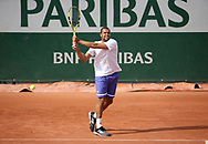 Jo-Wilfried Tsonga of France during practice ahead of the French Open 2021, a Grand Slam tennis tournament at Roland-Garros stadium on May 29, 2021 in Paris, France - Photo Jean Catuffe / ProSportsImages / DPPI
