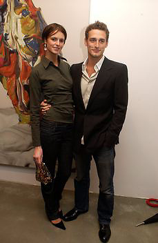 Jacquetta Wheeler, Timothy Taylor new gallery opening, Dering  St. 20 May 2003. © Copyright Photograph by Dafydd Jones 66 Stockwell Park Rd. London SW9 0DA Tel 020 7733 0108 www.dafjones.com