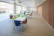 Farthings Cafe. Pembroke College New Build on completion March 2013. Oxford, UK