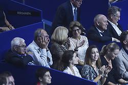 October 28, 2017 - Basel, Schweiz - Basel, Tennis - Swiss Indoors 2017, 28.10.2017, Mamma Federer Lynette neben Turnierdirektor Roger Brennwald. (Credit Image: © Melanie Duchene/EQ Images via ZUMA Press)