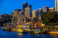 A ferris wheel, McMahon Point, North Sydney, Sydney, New South Wales, Australia