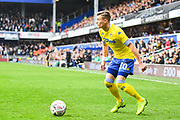 Leeds United Midfielder Ezgjan Alioski (10) in action during the The FA Cup match between Queens Park Rangers and Leeds United at the Loftus Road Stadium, London, England on 6 January 2019.