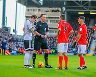 Stefan Johansen of Fulham and Sam Baldock of Brighton and Hove Albion during the Sky Bet Championship match at Craven Cottage, London<br /> Picture by Richard Brooks/Focus Images Ltd 07947656233<br /> 02/01/2017