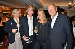 Left to right, ANNA LEHMANN, JULIUS LEHMANN, MILLIE LEHMANN and ANDREAS LEHMANN at a the Fortnum's X Frank private view - an instore exhibition of over 60 works from Frank Cohen's collection at Fortnum & Mason, 181 Piccadilly, London on 12th September 2016.
