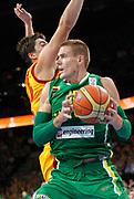 DESCRIZIONE : Vilnius Lithuania Lituania Eurobasket Men 2011 Quarter Final Round Macedonia Lituania F.Y.R. of Macedonia Lithuania<br /> GIOCATORE : Robertas Javtokas<br /> SQUADRA : Lituania Lithuania<br /> EVENTO : Eurobasket Men 2011<br /> GARA : Macedonia Lituania F.Y.R. of Macedonia Lithuania<br /> DATA : 14/09/2011 <br /> CATEGORIA : palleggio<br /> SPORT : Pallacanestro <br /> AUTORE : Agenzia Ciamillo-Castoria/L.Kulbis<br /> Galleria : Eurobasket Men 2011 <br /> Fotonotizia : Vilnius Lithuania Lituania Eurobasket Men 2011 Quarter Final Round Macedonia Lituania F.Y.R. of Macedonia Lithuania<br /> Predefinita :