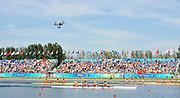 Shunyi, CHINA.  LM4- semi finals,  , at the 2008 Olympic Regatta, Shunyi Rowing Course. Fri 15.08.2008  [Mandatory Credit: Peter SPURRIER, Intersport Images]