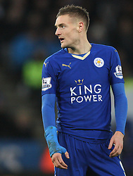 Jamie Vardy of Leicester City - Mandatory byline: Jack Phillips/JMP - 23/01/2016 - FOOTBALL - King Power Stadium - Leicester, England - Leicester City v Stoke City - Barclays Premier League