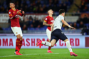 Ricardo Orsolini of Bologna celebrates after scoring 0-1 goal during the Italian championship Serie A football match between AS Roma and Bologna FC 1909, Friday, Feb. 7, 2020, at Stadio Olimpico in Rome, Italy. (Federico Proietti/Image of Sport)