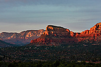 Sunset Panorama Sedona, Arizona. Image 2 of 11 images taken with a Nikon 1 V2 camera and 32 mm f/1.2 lens (ISO 200, 32 mm, f/5.6, 1/40 sec). Raw images processed with Capture One Pro. Panorama generated using AutoPano Giga Pro.