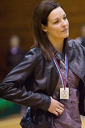 Anja Argenti at last 10th Round handball match of Slovenian Women National Championships between RK Krim Mercator and RK Olimpija, on May 15, 2010, in Galjevica, Ljubljana, Slovenia. Olimpija defeated Krim 39-36, but Krim became Slovenian National Champion. (Photo by Vid Ponikvar / Sportida)