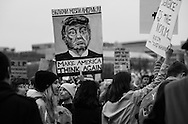 Women's March on Washington. More people turned out for the march then Donald Trumps inauguration making his administration defensive to the point of creating 'alternate facts' about attendance.
