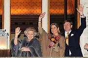 Viering 300 jaar Vrede van Utrecht  in de Domkerk.<br /> <br /> Celebrating 300 years in the Peace of Utrecht in the Dom Church.<br /> <br /> Op de foto:  Koningin Beatrix, prinses Maxima en prins Willem-Alexander <br /> <br /> Queen Beatrix, Princess Maxima and Prince Willem-Alexander
