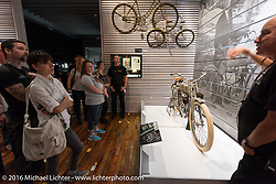 1907 Model 3 single on a tour of the Harley-Davidson Museum during the Milwaukee Rally. Milwaukee, WI, USA. Saturday, September 3, 2016. Photography ©2016 Michael Lichter.