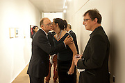 DOMINIC PALFREYMAN; MARGOT HELLER;  PAUL MARKS , Reception of the Silent Auction for the South London Gallery.  Hauser and Wirth. Savile Row. London. 13 October 2011. <br /> <br />  , -DO NOT ARCHIVE-© Copyright Photograph by Dafydd Jones. 248 Clapham Rd. London SW9 0PZ. Tel 0207 820 0771. www.dafjones.com.