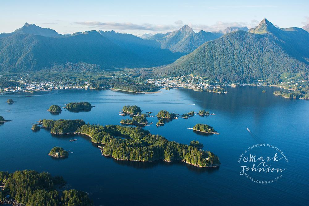 Aerial view of Sitka, Baranof Island, Alexander Archipelago, Southeast Alaska, USA