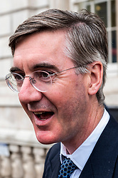 Jacob Rees-Mogg, Leader of the House of Commons leaving the Cabinet Office.<br /> <br /> Richard Hancox | EEm 30072019