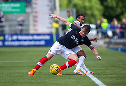 Falkirk's Michael Doyle and Livingston Aymen Souda. Falkirk 1 v 1 Livingston, Livingston win 4-3 on penalties. BetFred Cup game played 13/7/2019 at The Falkirk Stadium.
