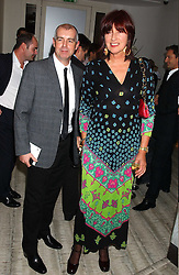 JANET STREET-PORTER and NEIL TENNANT at a dinner hosted by Arnaud Bamber MD of Cartier, Amanda Sharp and Matthew Slotover Directors of the Frieze Art Fair to celebrate artists featured in the 2005 Frieze Art Fair Curatorial Programme at Nobu-Berkeley, 15th Berkeley Street, London on 21st October 2005.<br /><br />NON EXCLUSIVE - WORLD RIGHTS