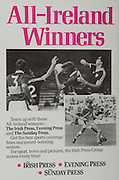 All Ireland Senior Hurling Championship Final,.Galway Vs Offaly,Offaly 2-11, Galway 1-12,.01.09.1985, 09.01.1985, 1st September 1985,.01091985AISHCF,.The Irish Press, Evening Press, The Sunday Press, .