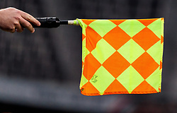 05.04.2017, Red Bull Arena, Salzburg, AUT, OeFB Samsung Cup, FC Red Bull Salzburg vs KSV 1919, Viertelfinale, im Bild Feature Lienienrichter, Fahne // Linesman with Flag during the OeFB Samsung Cup quarterfinal match between FC Red Bull Salzburg and KSV 1919 at the Red Bull Arena in Salzburg, Austria on 2017/04/05. EXPA Pictures © 2017, PhotoCredit: EXPA/ JFK