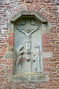 Church of Saint Edward, Kempley, Gloucestershire, England, UK, architect Randall Wells built 1903-4 relief Crucifixion