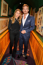 JACOBI ANSTRUTHER-GOUGH-CALTHORPE and IRENE FORTE at the launch of GP Nutrition held at Annabel's, 44 Berkeley Square, London on 26th January 2016.