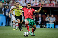 Younes Belhanda of Morocco during the 2018 FIFA World Cup Russia, Group B football match between Portugal and Morocco on June 20, 2018 at Luzhniki stadium in Moscow, Russia - Photo Thiago Bernardes / FramePhoto / ProSportsImages / DPPI