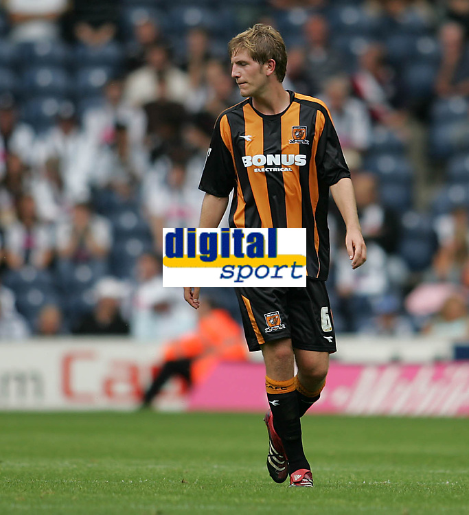 Photo: Lee Earle.<br /> West Bromwich Albion v Hull City. Coca Cola Championship. 05/08/2006. Hull's recent signing Michael Turner.