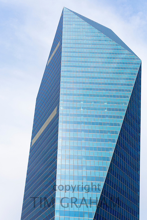 Levent, financial business district of Istanbul skyscraper Soyak Tower Center modern glass in Istanbul, Turkey