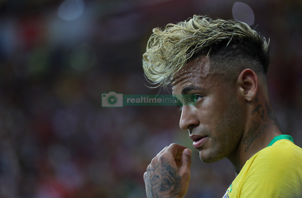 ROSTOV-ON-DON, June 17, 2018  Neymar of Brazil reacts during a group E match between Brazil and Switzerland at the 2018 FIFA World Cup in Rostov-on-Don, Russia, June 17, 2018. (Credit Image: © Lu Jinbo/Xinhua via ZUMA Wire)
