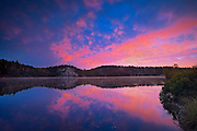 A dawn sky reflected in the the Vermilion RIver<br /> Capreol<br /> Ontario<br /> Canada