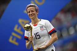 July 7, 2019 - Lyon, France - Megan Rapinoe (Reign FC) of United States celebrate after winning ball of gold of the 2019 FIFA Women's World Cup France Final match between The United State of America and The Netherlands at Stade de Lyon on July 7, 2019 in Lyon, France. (Credit Image: © Jose Breton/NurPhoto via ZUMA Press)