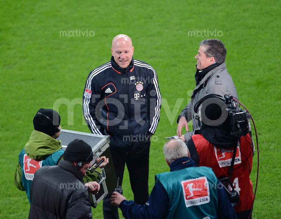 FUSSBALL   1. BUNDESLIGA  SAISON 2012/2013   15. Spieltag FC Bayern Muenchen - Borussia Dortmund     01.12.2012 Sportvorstand Matthias Sammer (FC Bayern Muenchen) beim Sky Interview