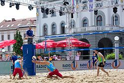 Jure Peter Bedrac and Danijel Pokersnik at Beach Volleyball Challenge Ljubljana 2014, on August 1, 2014 in Kongresni trg, Ljubljana, Slovenia. Photo by Matic Klansek Velej / Sportida.com