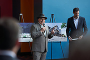 Urban Catalyst ground breaking event in San Jose, California, on February 27, 2020. (Stan Olszewski/SOSKIphoto) Urban Catalyst groundbreaking event in San Jose, California, on February 27, 2020. (Stan Olszewski/SOSKIphoto)