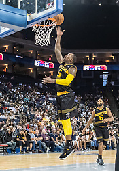 July 6, 2018 - Oakland, CA, U.S. - OAKLAND, CA - JULY 06: Stephen Jackson (5) co-captain of the Killer 3s lays up a shot during game 4 in week three of the BIG3 3-on-3 basketball league on Friday, July 6, 2018 at the Oracle Arena in Oakland, CA (Photo by Douglas Stringer/Icon Sportswire) (Credit Image: © Douglas Stringer/Icon SMI via ZUMA Press)