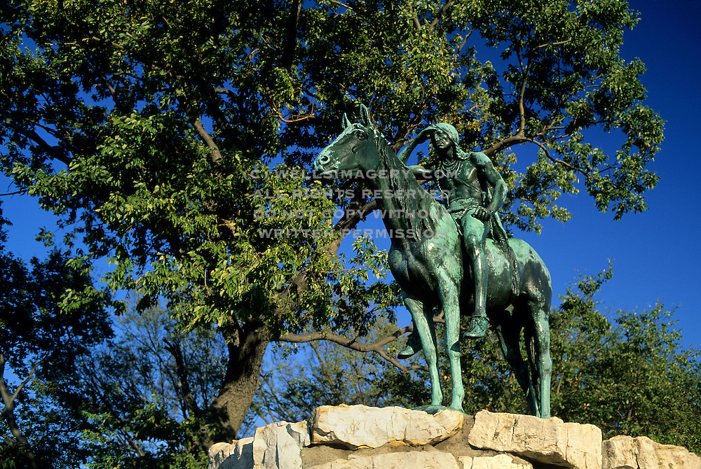 Image of the Kansas City Scout statue in Kansas City, Missouri, America Midwest by Andrea Wells