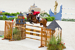 Angel Guillermo Karolyi, (VEN), Amigo - Team & Individual Competition Jumping Speed - Alltech FEI World Equestrian Games™ 2014 - Normandy, France.<br /> © Hippo Foto Team - Leanjo De Koster<br /> 02-09-14