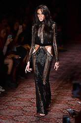 Winnie Harlow on the catwalk at the Julien Macdonald Autumn/Winter 2017 London Fashion Week show at Goldsmiths' Hall, London. Photo credit should read: Doug Peters/ EMPICS Entertainment
