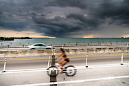 The road bridge across Bear Cut, between Virginia Key and Key Biscayne, on a stormy afternoon. WATERMARKS WILL NOT APPEAR ON PRINTS OR LICENSED IMAGES.